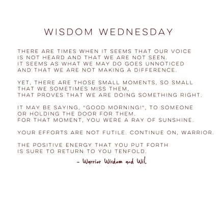 WisdomWednesday041316